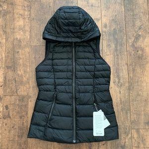 Down For It Vest NWT size 6 black